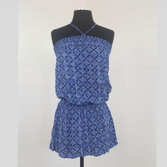 Forever 21 Dresses & Skirts - F21 Halter Strapless Blue Print Vacation Dress